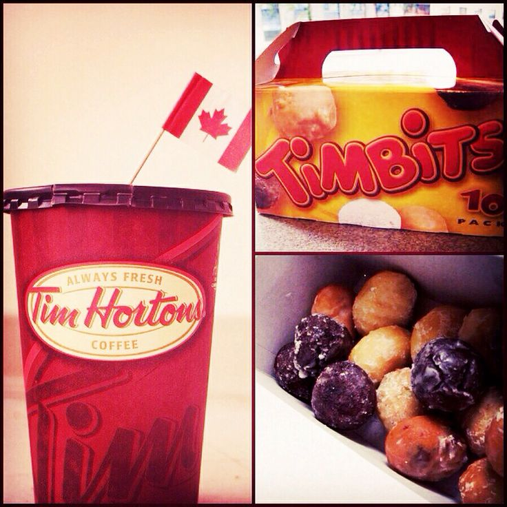 Tim Hortons Coffee in Canada have nothing on starbucks or shipley's!  love those Tim Bits ❤️