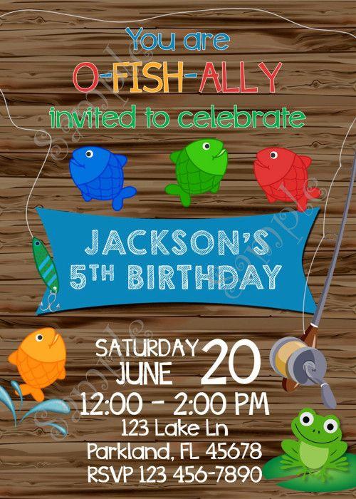 Fishing Invitation, Fishing birthday party Invite, Gone Fishing party