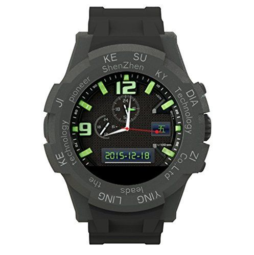 KW12 Smart Sport Watch with Bluetooth Barometer Altimeter Thermometer with camera (chrismas discount) black. SW12 is not only a smart watch,Reminder for incoming SMS and call. Compass, Anti-Lost, BT Music, Stopwatch, Clock Alarm,Also, it is a MP3 Player,and palying. Sleeping monitor, Sedentary reminder, Pedometer, Multiple Watch Faces, Remote camera. After-Sale Service: Any needs, before return or leave complains, please contact us. We will make every effort to offer the best solution for...