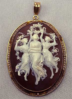 ۞ ۩  The Three muses,  vintage cameo_A Theme from the Ancient Greek Culture .