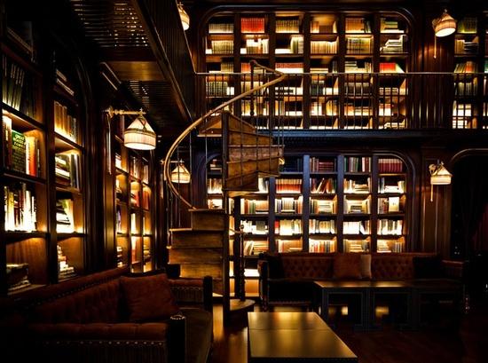Dark, deep, beautiful, contrasty......staircase + books = love!!