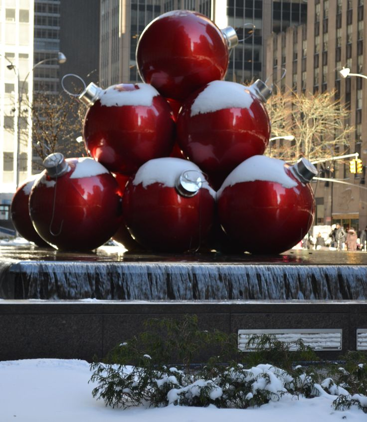 Hollywood is often called Tinseltown, but NYC isn't far behind with the oversized Christmas decorations.