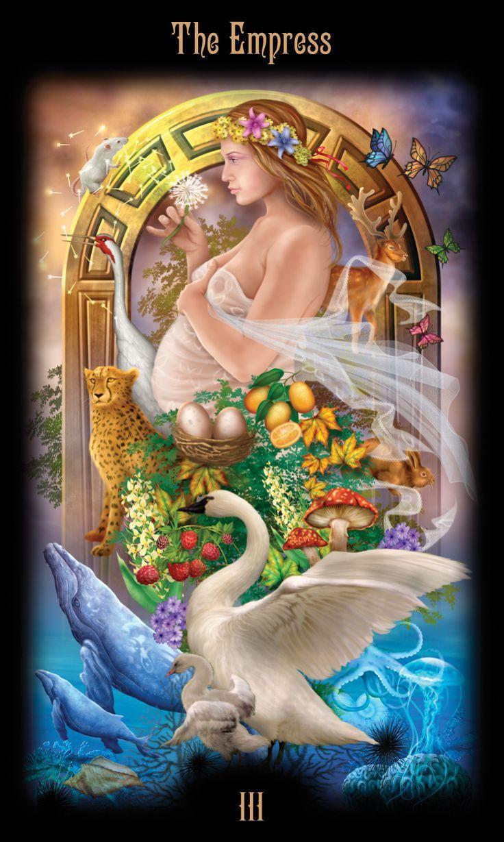 Fertilidade e carinho é simbolizada pela figura central, a Mãe Terra, que se manifesta como a mulher grávida soprando suavemente sementes de reprodução. Ela é cercada por elementos que representam a riqueza e a variedade da vida em suas múltiplas formas do fundo do mar para as nuvens acima. Esta imagem usa a maternidade como uma metáfora geral para dar à luz a um bebê, mas para qualquer empreendimento criativo que também obriga-nos a protegê-lo durante seus estágios iniciais vulneráveis.