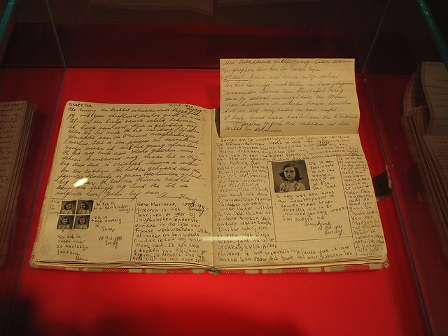 Anne Frank Diary at Anne Frank Museum in Berlin by heatheronhertravels, via Flickr