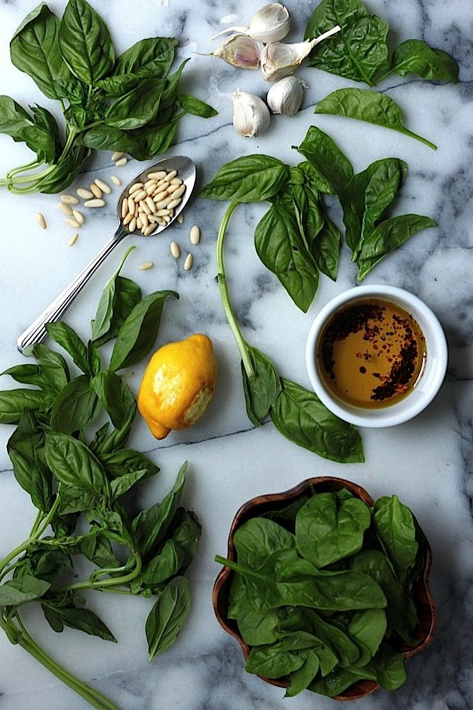 Super Healthy Spinach Basil Pesto (Vegan // Dairy Free // Gluten Free)