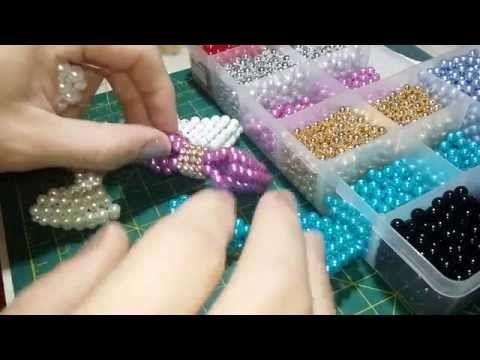 Como fazer um laço de perolas para sandália customizada, rapidamente,p/ Maguida Silva - YouTube