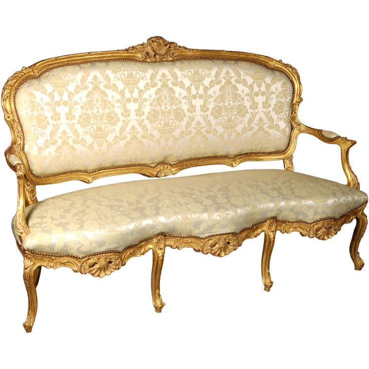 Louis XV Italianate Style Beechwood Sofa