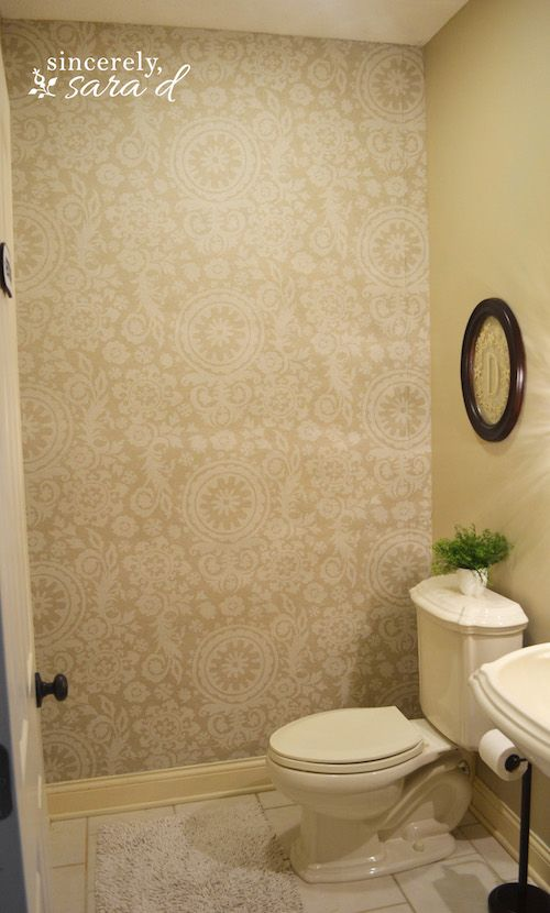 Starched Fabric Wall   Whoa, cool idea! And probably way less expensive than the Tempaper I used. Must try if/when I move.