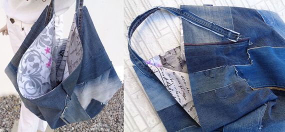 Denim tas groot tote oversized handtas gek shopper tas