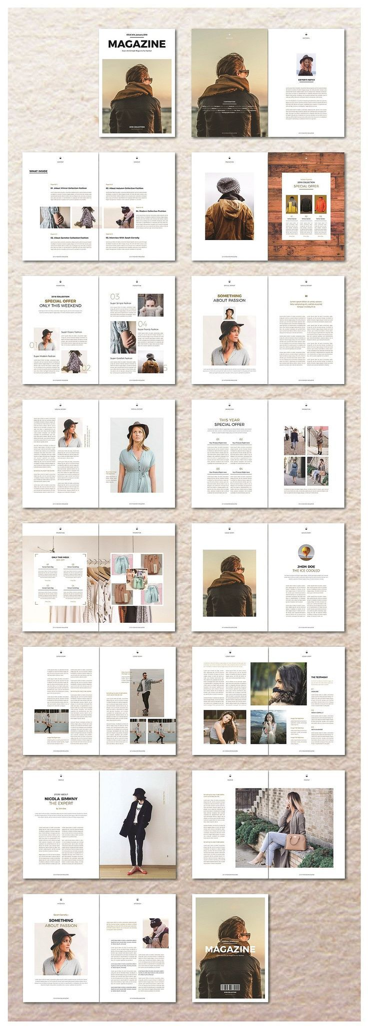 Magazine Template by ZoroGraph on Creative Market