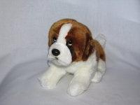 Saint Bernard plush. Plush toy dog puppy sitting 25 cm.Very cuddly soft plush. Manufacturer: Made in Germany. http://www.sammler-und-hobbyshop.eu/Plush-stuffed-St-Bernard-dog-puppy-sitting-25-cm