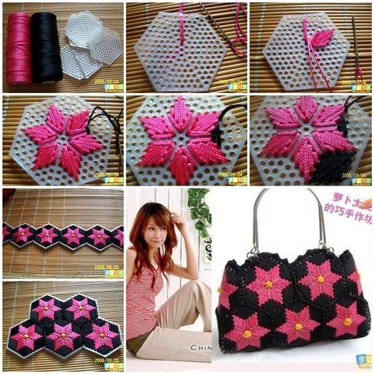 DIY Pretty Handbag from Stitch Plastic Canvas 3