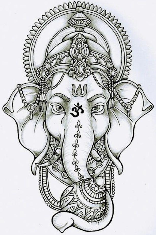 картинки индийского слона тату обычно