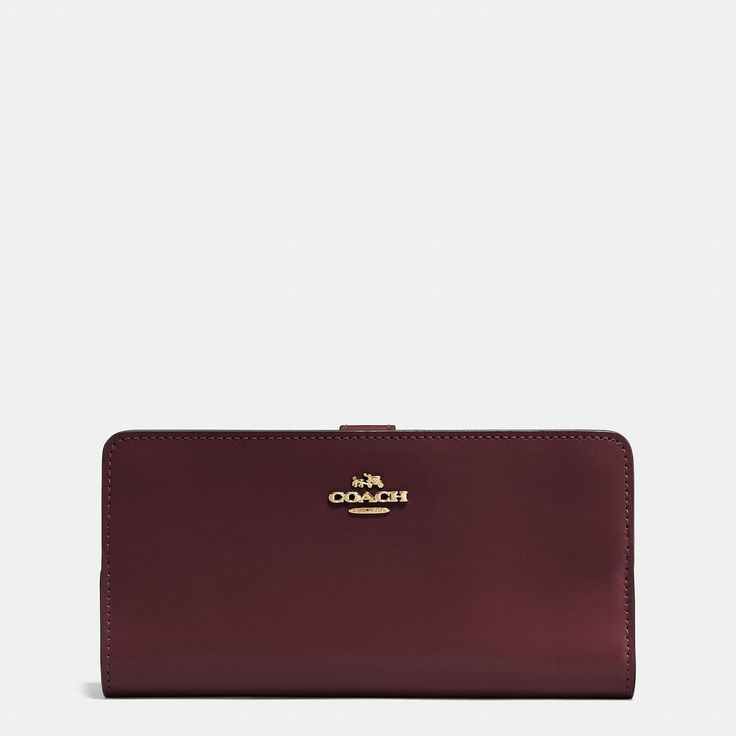 COACH COACH SKINNY WALLET IN REFINED CALF LEATHER. #coach #