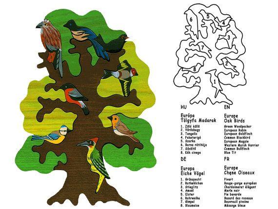 Tree with birds  Europe Montessori  Waldorf wooden by Ludimondo, $49.00