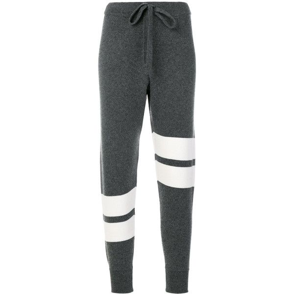 Zoe Jordan Hitchcock trousers ($389) ❤ liked on Polyvore featuring pants, grey, grey trousers, grey pants and gray pants