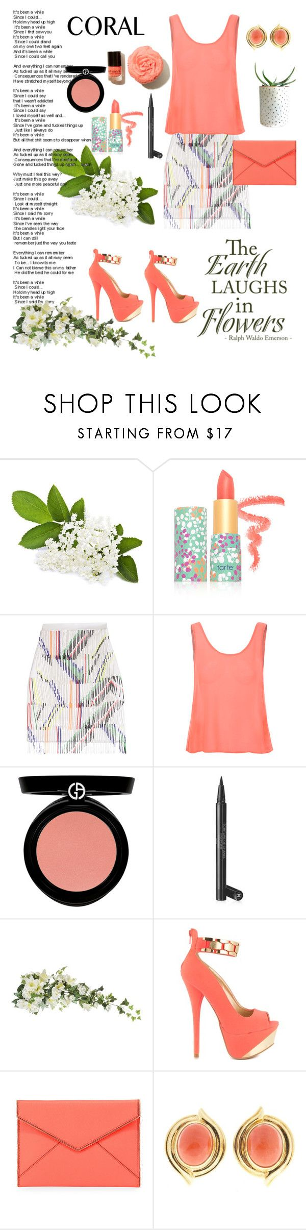 """""""Laugh A Little..."""" by emily-cowan ❤ liked on Polyvore featuring tarte, Preen, Glamorous, Armani Beauty, Chanel, Darice, Qupid and Rebecca Minkoff"""