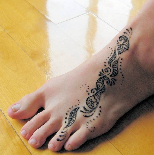 Foot Henna Tattoo | Body Art | Pinterest