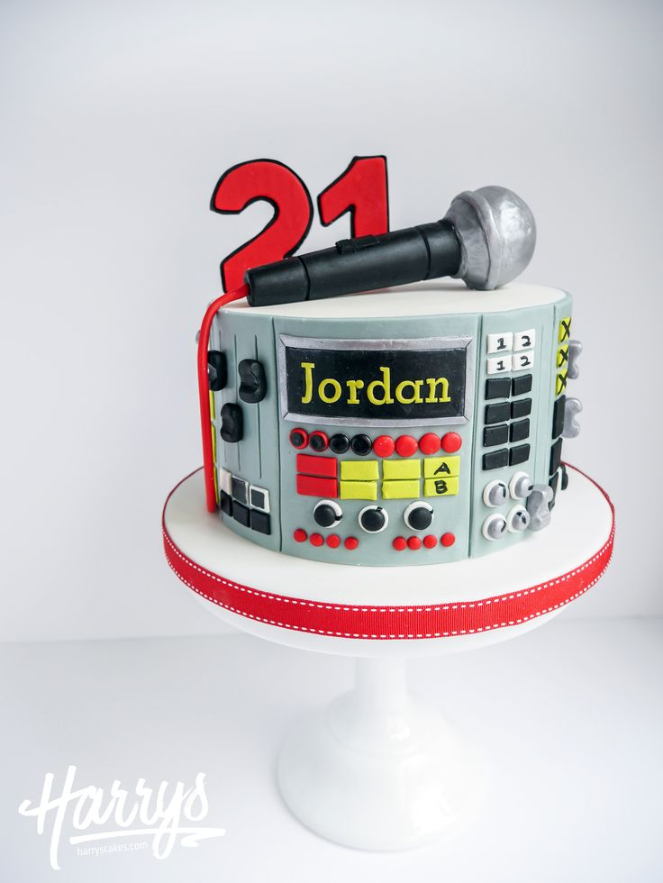 Harrys Cakes - Microphone Mixer Cake