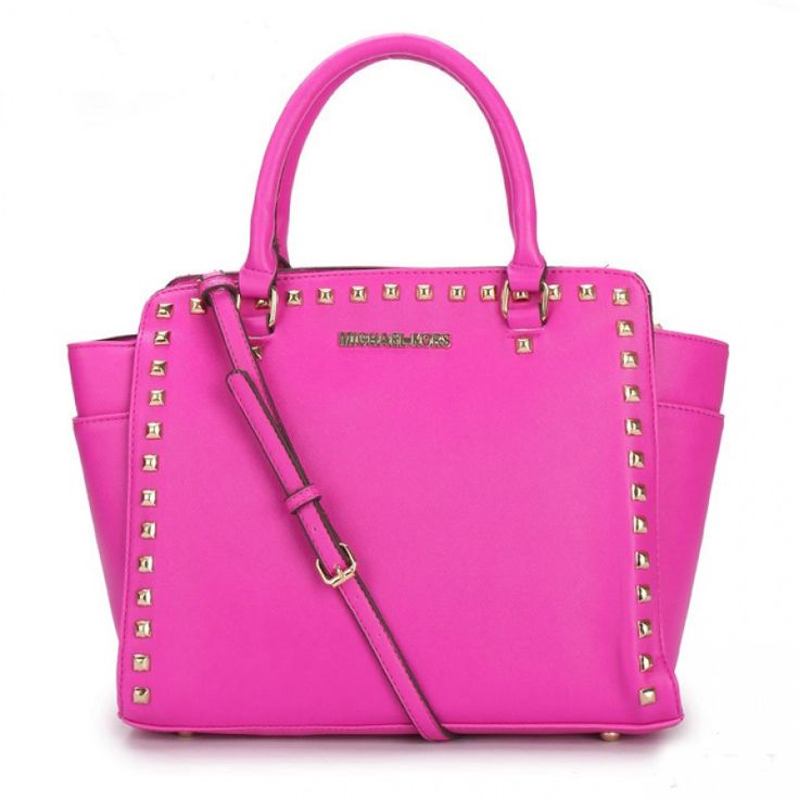 MICHAEL Michael Kors Large Selma Studded Saffiano Tote in Pink