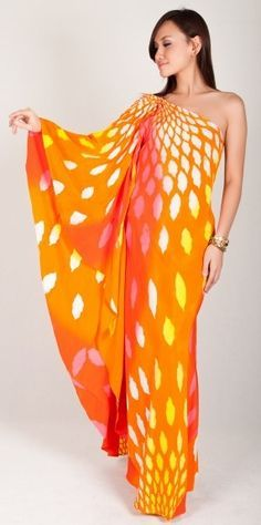 one shoulder caftan pattern - Google Search
