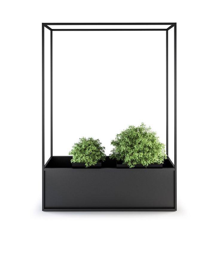 Metal planter CARL PLANTERS by Röshults design BRDA - BROBERG