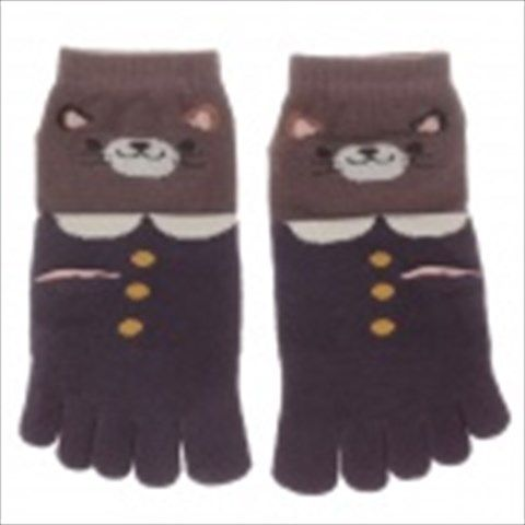 100% Cotton Fashionable Women's 5-Toe Socks - Purple + Brown (Pair)  $6.77
