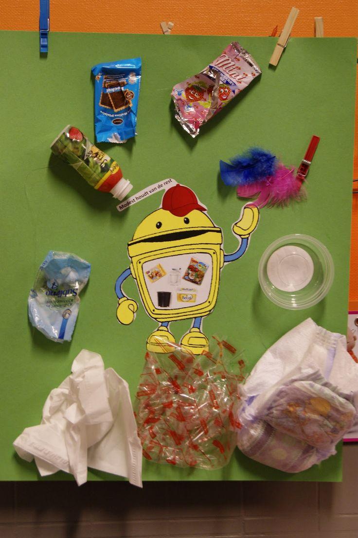 Begeleide of zelfstandige activiteit - Afval sorteren