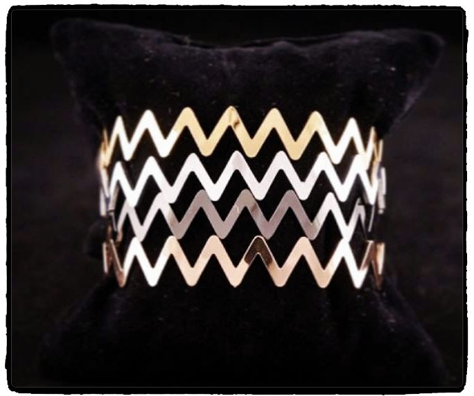 New in ..... Chevron bracelets!!!!! You can not choose only one!!! Tip: make a statement of elegance and confidence...  Let the gift shopping begin!!!! Join a world of ‪#‎uniqueness‬ ‪#‎aesthetics‬ & ‪#‎style‬ ‪#‎braccialetticoncepts‬ ‪#‎chevron‬ ‪#‎bracelets‬ ‪#‎christmas‬ ‪#‎elegance‬ ‪#‎gifts‬ ‪#‎xmasgifts‬