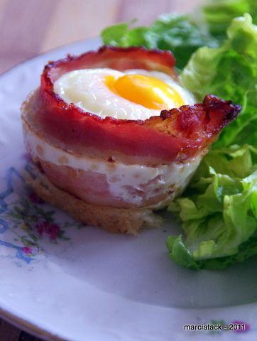 Oeuf au lard grillé comme un muffin - Recette - Marciatack.fr : recettes faciles | Tout pour cuisiner !