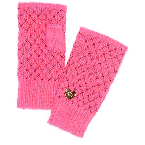 Betsey Johnson Neon Pink Net Worth Fingerless Gloves ($9.99) ❤ liked on Polyvore featuring accessories, gloves, net gloves, fingerless gloves, betsey johnson and metallic gloves