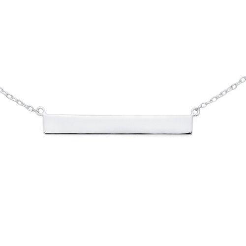 Silver Bar Necklace   Goldmark Australia