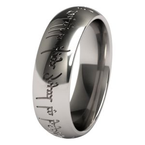 the one titanium ring the one titanium wedding band is a replica of the ring - The One Ring Wedding Band