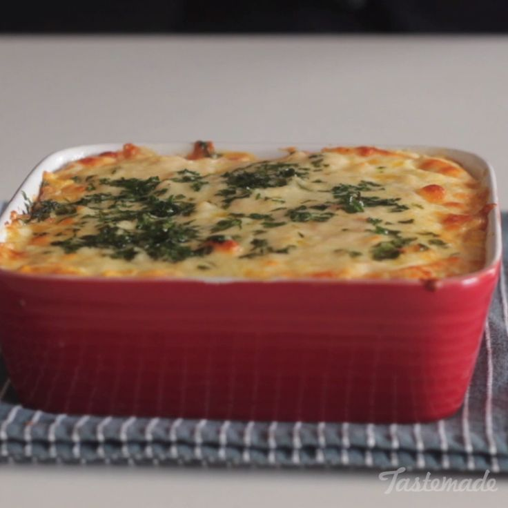 Easy Baked Rice & Cheese Casserole.