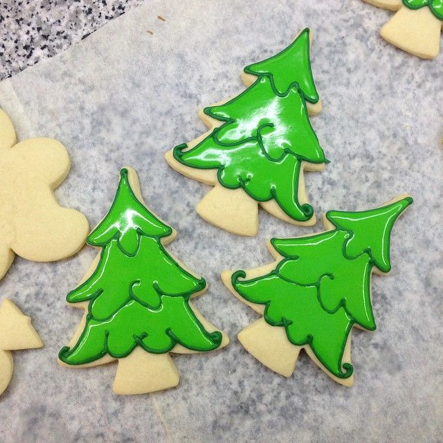 Christmas Tree Decorated Cookies: 10 Best Ideas About Christmas Tree Cookies On Pinterest