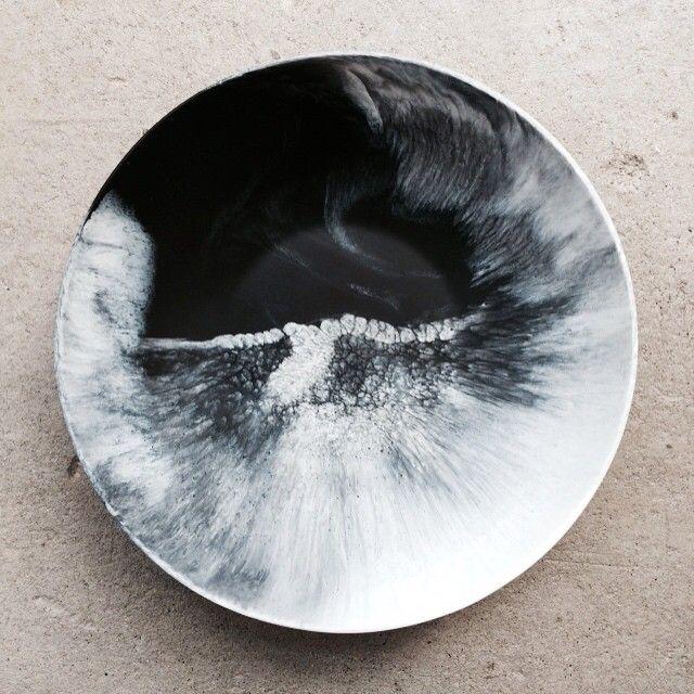 Martha Sturdy bowl in black and white resin. www.providehome.com