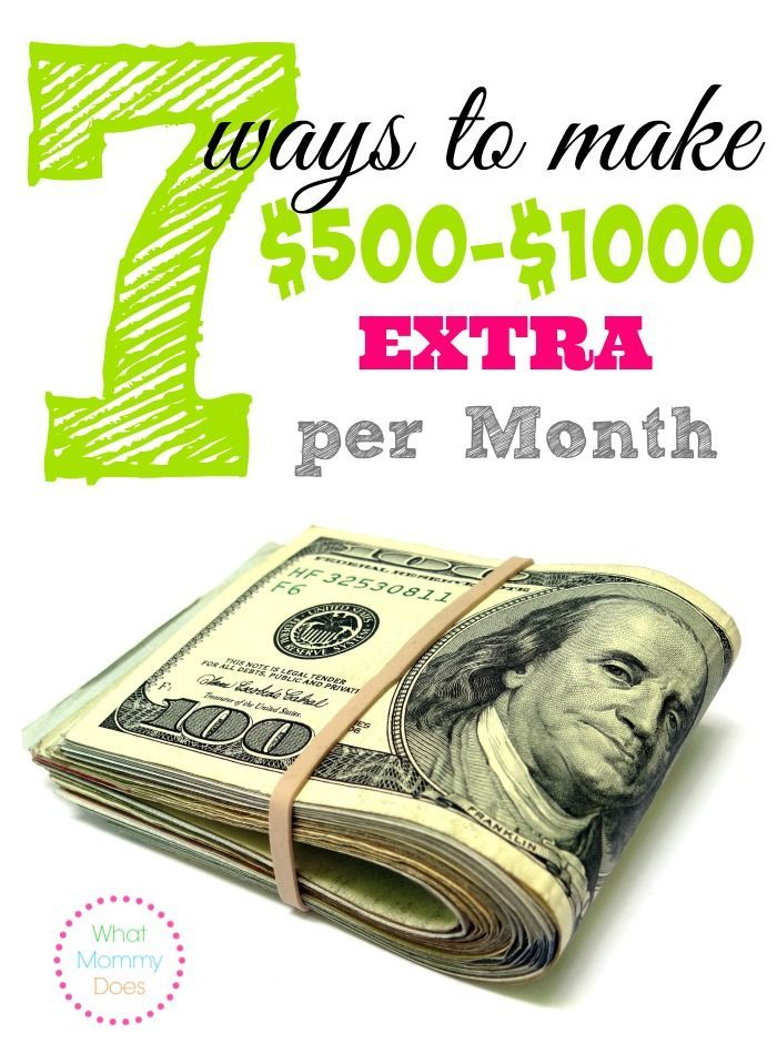 If you could use some extra cash each month, then don't miss this list of 7 ideas for making $500 to $1,000 extra monthly.
