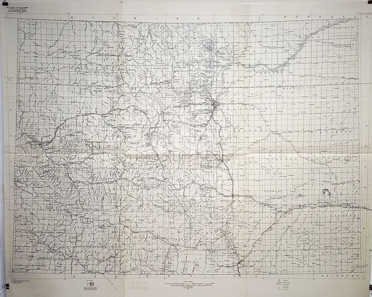 Antique huge historical map Relation of the State of Colorado to sheets of the International Map of the World on the scale of 1:1,000,000 by SunstarGallery on Etsy