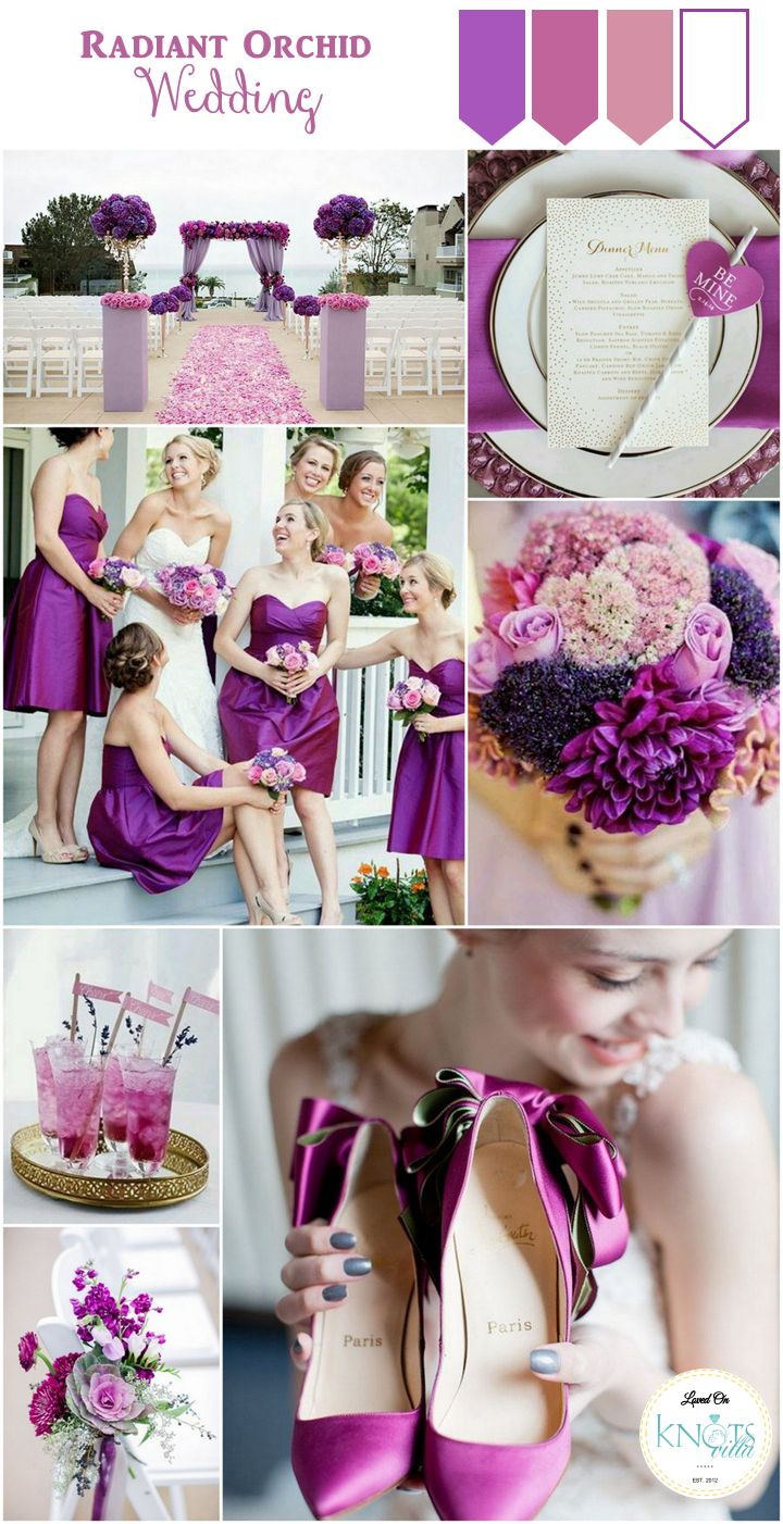 Purple Pink Radiant Orchid wedding Inspiration