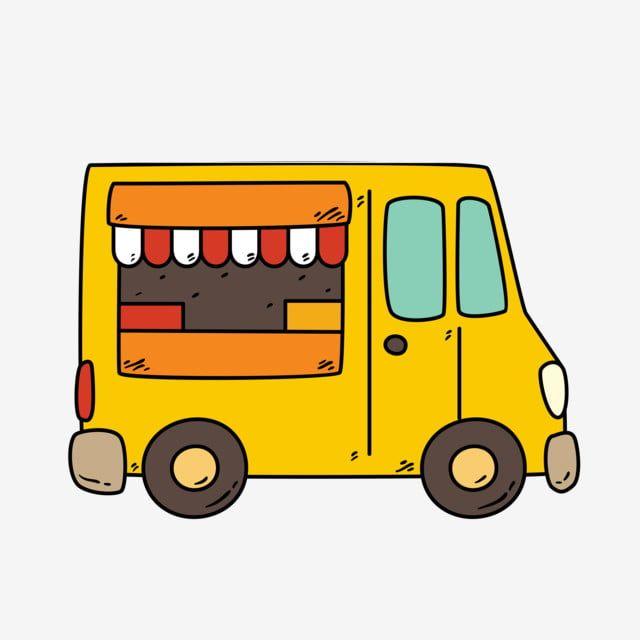 Gambar Trak Makanan Kreatif Takeaway Snack Pengangkutan Kenderaan Kereta Clipart Kereta Tekstur Cantik Kartun Comel Png Dan Vektor Untuk Muat Turun Percuma Creative Food Trucks Cartoon