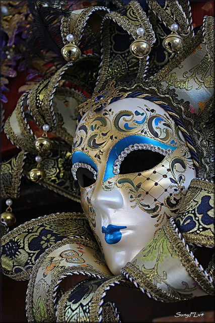 One of the Many Colorful Mask of Venice by SunyFLx4, via Flickr
