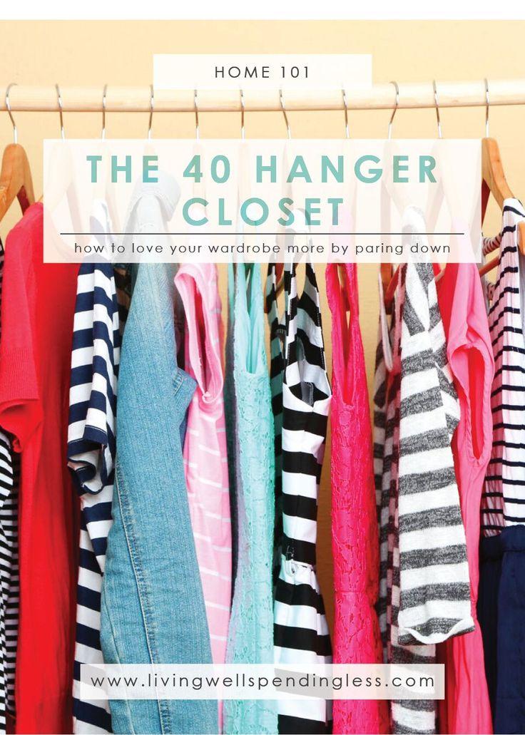 The 40 Hanger Closet | Cleaning & Organizing | Decluttering Closet | Fashion Hacks | Closet Makeover | Weekend Challenge | Minimalist