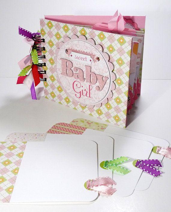 Baby Girl Scrapbook Mini Album Premade Sweet by ScrapbookGallery