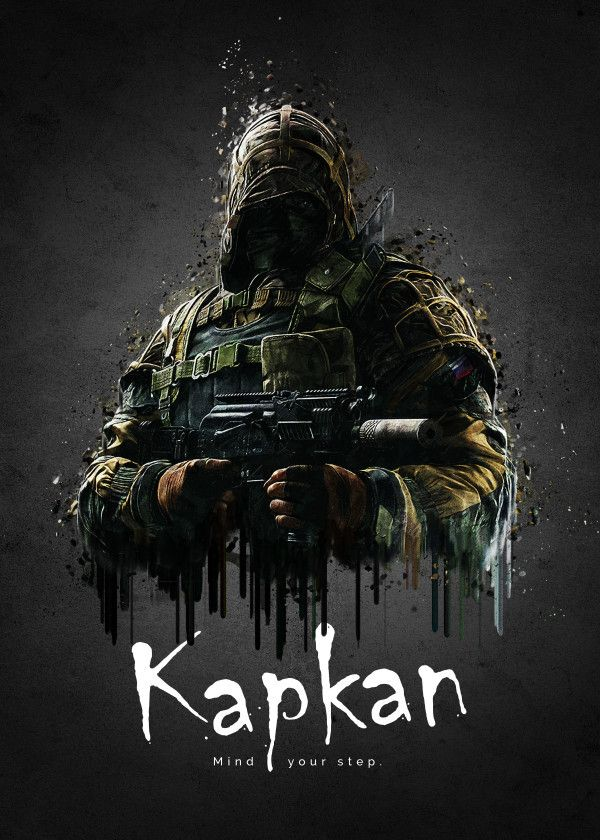 "Rainbow Six Siege Characters Kapkan #Displate artwork by artist ""TraXim"". Part of a 33-piece set featuring artwork based on characters from the popular Rainbow Six video game. £37 / $49 per poster (Regular size), £74 / $98 per poster (Large size) #RainbowSix #RainbowSixSiege #TomClancy #TomClancysRainbowSix #Rainbow6 #Rainbow6Siege #TomClancysRainbow6 #Ubisoft"