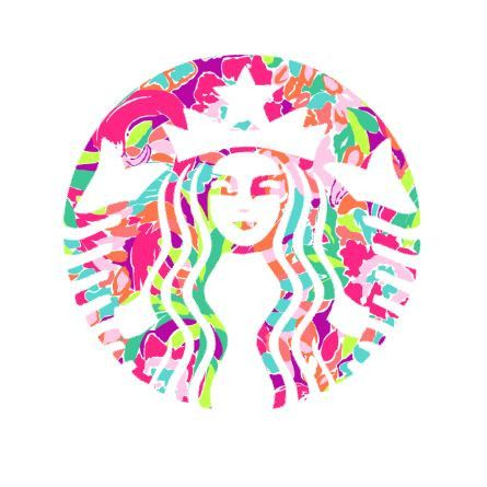 Starbucks Lilly Pulitzer Decal