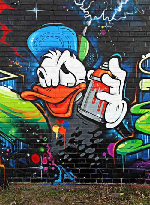 Graffiti Art Characters | ... Graffiti Graffiti Cartoon Characters Donald Duck – Graffiti Alphabet art from around the world as we are all one people Like street art ? https://www.etsy.com/shop/urbanNYCdesigns?ref=hdr_shop_menu #graffiti #streetart #art