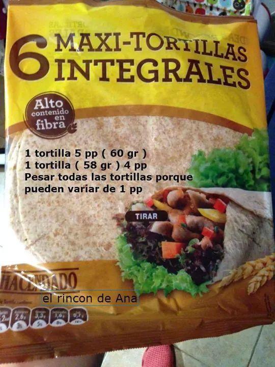 Tortilla integrales