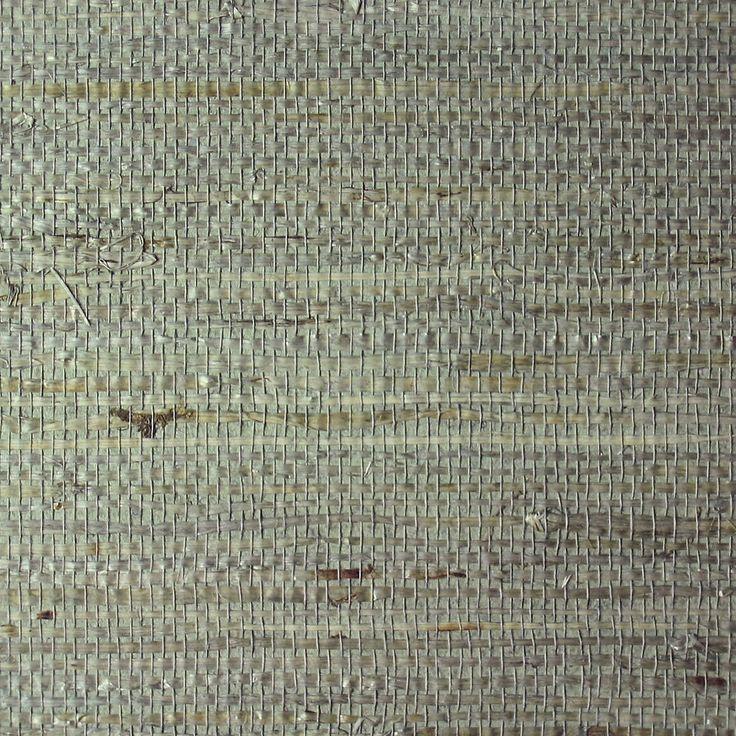 Navy Grasscloth Wallpaper And Gold Rivets Mirror: Dove/Harbor Blue Extra Fine Arrowroot A Grasscloth 1744