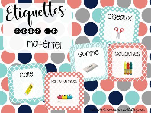 Etiquettes pour le matériel