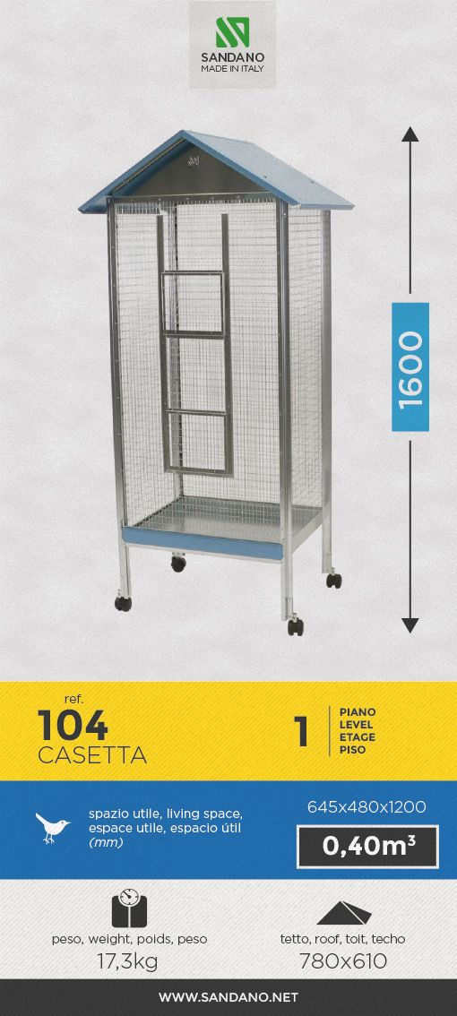 """#Voliera per uccelli • Bird's #aviary"""" • #Voliere pour les oiseaux • #Pajarera para aves ----- Casetta (104), MADE IN ITALY"""